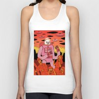 Unisex Tank Top featuring Alien Invader  by Jack Teagle