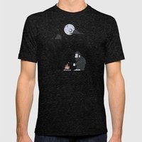 Forest Life Mens Fitted Tee Tri-Black SMALL