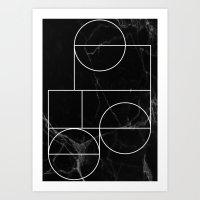 Marble Line #2 Art Print