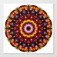 Pansy Kaleidoscope Canvas Print