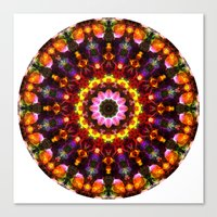 Pansy Kaleidoscope Canvas Print