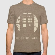 Doctor Who Mens Fitted Tee Tri-Coffee SMALL