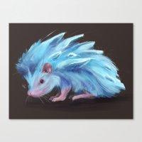 Ice Hedgehog Canvas Print