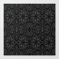 Slate Gray Pattern Canvas Print