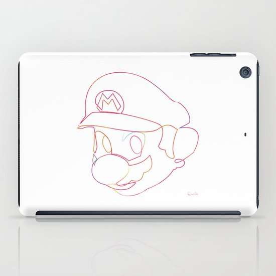One line Supermario iPad Case