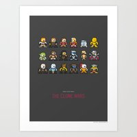 Mega Star Wars: The Clon… Art Print