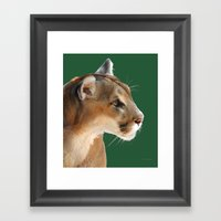 Panther Profile Framed Art Print
