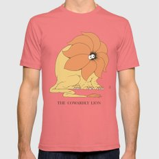 The Cowardly Lion Mens Fitted Tee Pomegranate SMALL