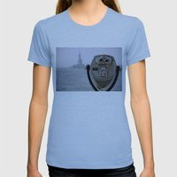 Turn to Clear Vision Womens Fitted Tee Athletic Blue SMALL