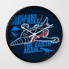 FIGHT THE DINOS Wall Clock