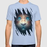 Red Tiger Mens Fitted Tee Tri-Blue SMALL
