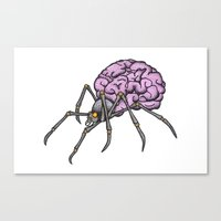 brain spider Canvas Print