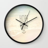 HOPE ANCHORS THE SOUL  Wall Clock