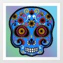 Sugar Skull #9 Art Print