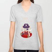 Pirate Bunny Needs Coffe… Unisex V-Neck