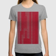 White Over Red Womens Fitted Tee Athletic Grey SMALL