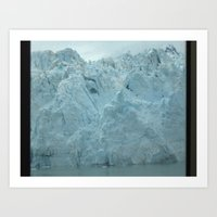 Glacier Beauty Up Close Art Print