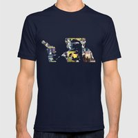 Han Shot First Mens Fitted Tee Navy SMALL