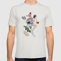 Astro Punk Sugar Rush Sprinkles  Mens Fitted Tee Silver SMALL