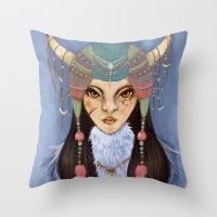 Mongolian Princess Throw Pillow