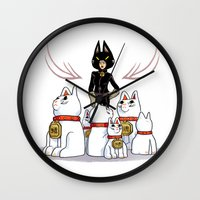 Woman Of Cats Wall Clock