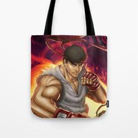 Ryu Street Fighter Tote Bag
