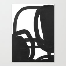 Black & White Abstract 2 Canvas Print
