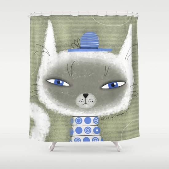 BLUE ADORNMENTS Shower Curtain