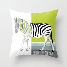 The power of the road Throw Pillow