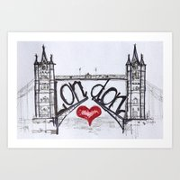 London With Love Art Print