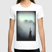 T-shirt featuring Fog surrounding Cradle Top Mountain - Tasmania by Chris' Landscape Images & Designs