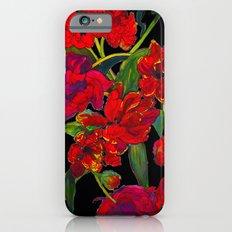 Inky Tulips Black iPhone 6 Slim Case