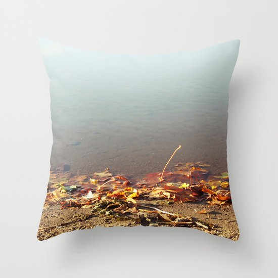 Autumn by the water Throw Pillow
