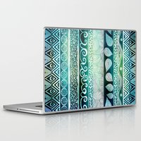 beach Laptop & iPad Skins featuring Dreamy Tribal Part VIII by Pom Graphic Design