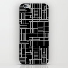 Map Lines Silver iPhone & iPod Skin