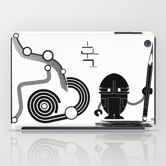 Robot Graffiti  iPad Case