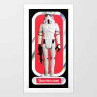 Stormtrooper : Vintage Kenner action figure Smaller Size Art Print