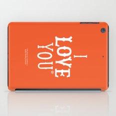 I love you* iPad Case