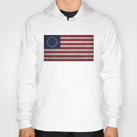 The Betsy Ross flag of the USA - Vintage Grungy version Hoody