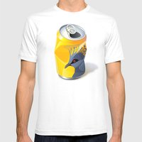 Victoria Crowned Pigeon Mens Fitted Tee White SMALL