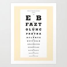 Eye-Catching (Yellow) Art Print