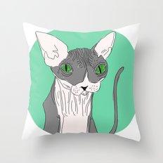 Nicolas the Sphynx Throw Pillow