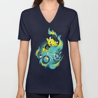 Monster Pixie Riding A F… Unisex V-Neck