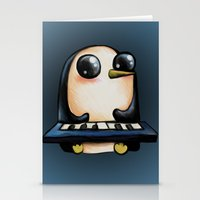 Penguin With Keyboard Stationery Cards
