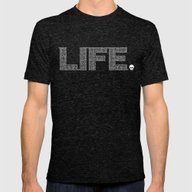 Life Is Amazing Mens Fitted Tee Tri-Black SMALL