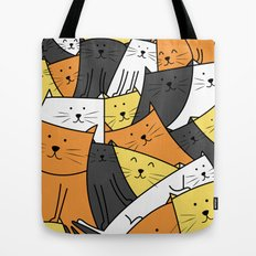 The Cats are Watching Tote Bag