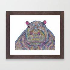 Hippie-Potamus (Multicolour) Framed Art Print