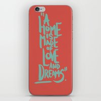 Motivation Quote - Illustration - Home - Dreams - Inspiration - life - happiness - love iPhone & iPod Skin