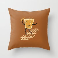 Hop-Scotch Throw Pillow