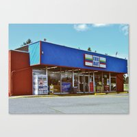 Canvas Print featuring Kwiki Mart by Vorona Photography